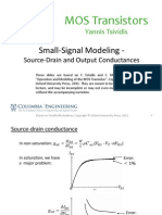 Lecture_Slides-Small-Signal Modeling - Source-Drain and Output Conductances