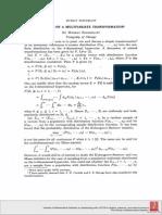 Remark on a multivariate transformationmark on a Multivariate Transformation