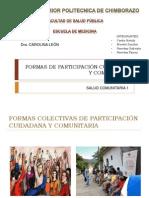 FORMAS DE PARTICIPACIÓN CUIDADANA Y COMUNITARIA