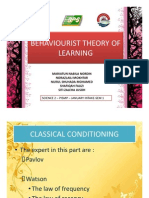 Behaviourist Theory of Learning