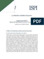 Annuario Politica Estera Italiana 2013 - Capitolo introduttivo