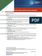 Brief del producto Lean Six Sigma Excelencia Operativa en la Gestión