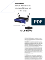 Linksys BEFW11S4 Wireless-B Cable/DSL Router Manual