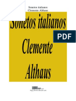 Sonetos Italianos (Althaus)