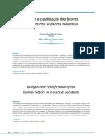 Analise e Classificacao Dos Fatores Humanos Nos Acidentes Industriais
