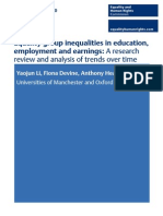 10 Equality Group Inequalities in Education Employment and Earnings