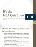 mla style quiz show