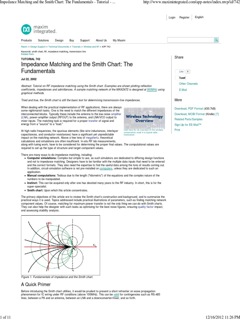 Smith chart examples pdf