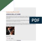 Joshua Bell Press Report 9.26