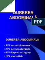 DUREREA ABDOMINALA