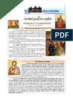 305. D32R Duminica Lui Zaheu; Sf. Trei Ierarhi