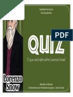 Lorenzo Snow - Quiz