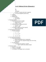 AP Physics-B- Midterm Review