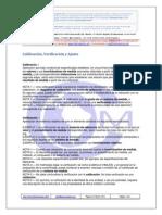 Calibracion, verificación y ajuste