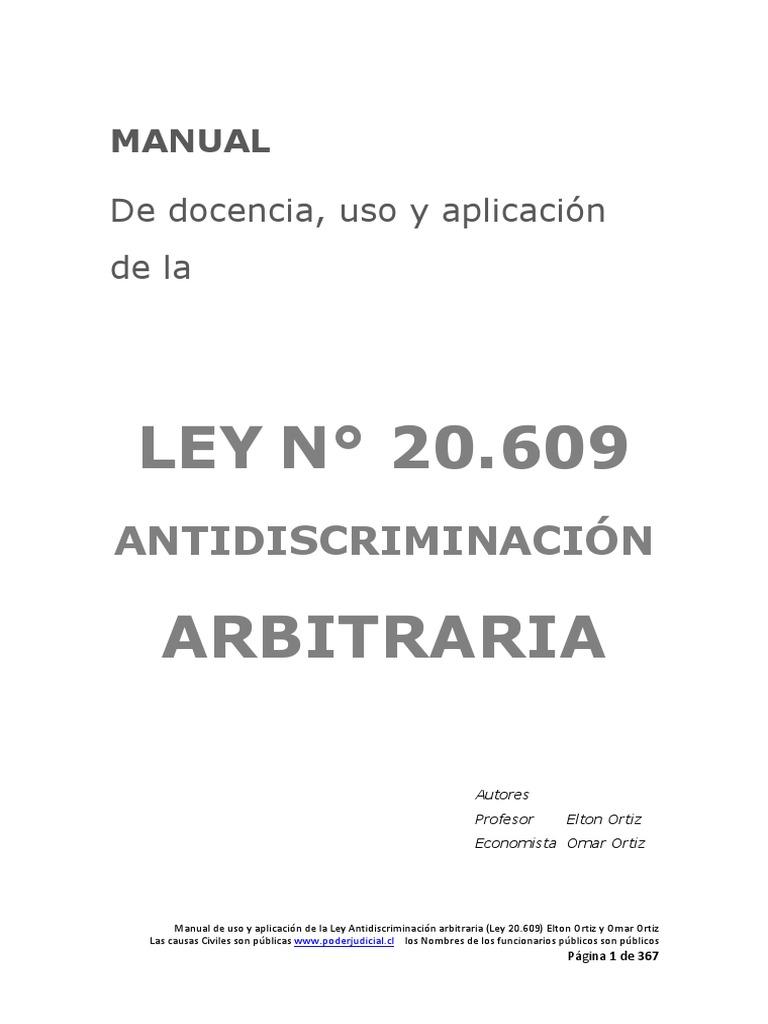 Manual antidiscrimacin ley 20609 o zamudio malvernweather Image collections