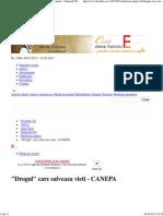 _Drogul_ Care Salveaza Vieti - CANEPA - Medicina Naturii - Formula As
