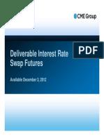 Deliverabe IR Swaps