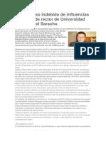 Revelan Uso Indebido de Influencias Por Parte de Rector de Universidad Juan Misael Saracho