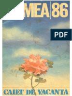 Almanah Lumea - Caiet de Vacanta 1986