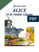 Caroline Quine Alice Roy 24 BV Alice Et Le Violon Tzigane 1947
