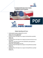 2012 Presidential Election Voter Guide