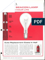Sylvania Incandescent Airway Beacon Lamp Bulletin 1966