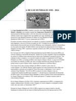 Historia de Los Mundiales 1930