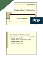 Resumen Cartas Convenciones Patrimonio