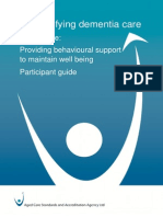 Module Five Provding Behavioural Support to Maintain Well Being - Participant Guide