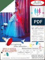 Sylvania Incandescent R-40 & PAR-38 Colored Lamp Brochure 1962