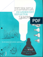 Sylvania Incandescent Reflector Lamps Brochure 1962