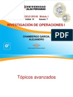 11-Investigacion Operativa I- Ing Industrial Topicos Avanzados