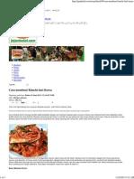 Cara Membuat Kimchi Dari Korea