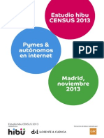 Estudio hibu CENSUS 2013 Pymes & autónomos en internet
