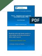 Tema 3-Regulatorni Okvir Poslovanja Komercijalnih Banaka u FBiH