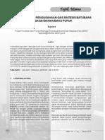 Maret 2013-Pengembangan Pengusahaan Gas Sintesis Batubara