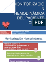 Monitorización Hemodinámica del paciente crítico