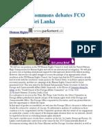 House of Commons Debates FCO Report on Sri Lanka
