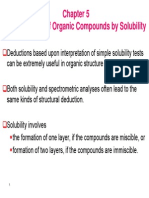 Classification of Organic Compounds by Solubility