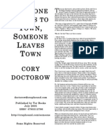 Someone Comes To Town Someone Leaves Town by Cory Doctorow