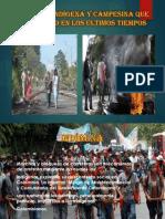 Protesta indígena y campesina que ha sucedido en