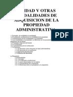 Unidad v Otras Modalidades de Adquisicion de La Propiedad Administrativa Admvo II