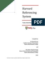 TARC Harvard Referencing System