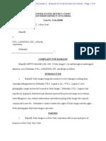 Getty v FHL Logistics Inc Complaint