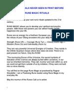 5 Rune Magic Rituals