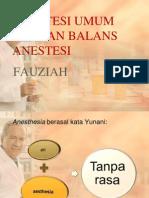 anestesi umum dengan balans anestesia ppt