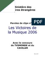 Victoires 2006