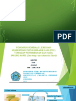 Pengaruh kombinasi jenis dan konsentrasi pupuk organik cair terhadap pertumbuhan dan hasil jagung manis