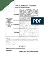 GUIA DE ANÁLISIS DRAMATURGICO Y CREACIÓN INICIAL DE DRAMATURGIA