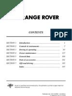 Range Rover 1998 user manual
